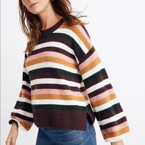 NWT Madewell Striped Payton Sweater Size S…